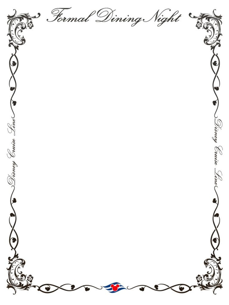 Cruise clipart border And cruise white Dinner Royalty