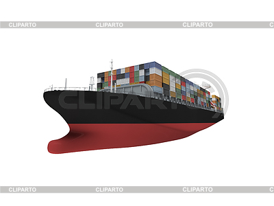 Cruise clipart cargo ship Over white container and Ships