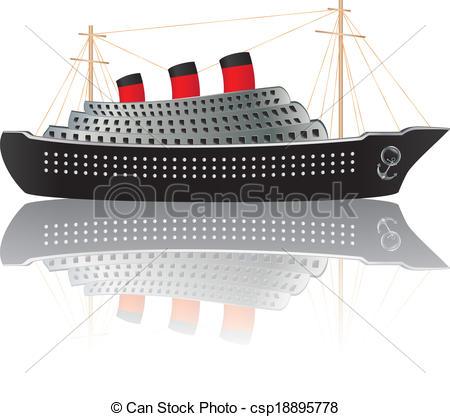 Cruise clipart ocean liner Of Ocean liner Vintage Vintage