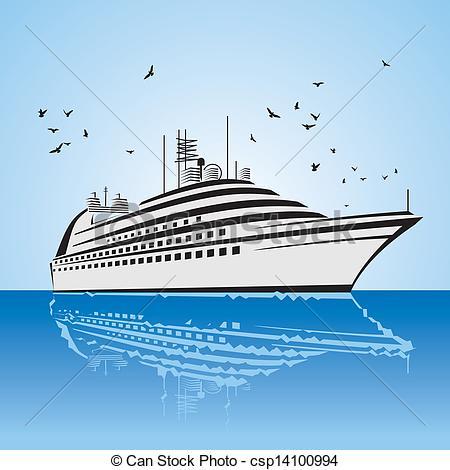 Cruise clipart passenger ship Ship of of a Vector
