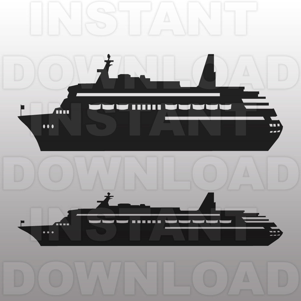 Ferry clipart cruise ship For Template Commercial silhouette and