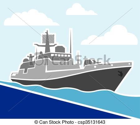 Cruise clipart war ship EPS Vector Ship War War