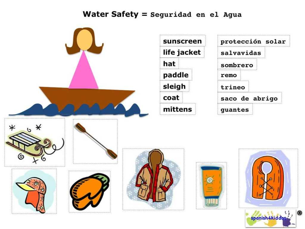 Cruise clipart water safety Ideas Safety Spanish  Crafts