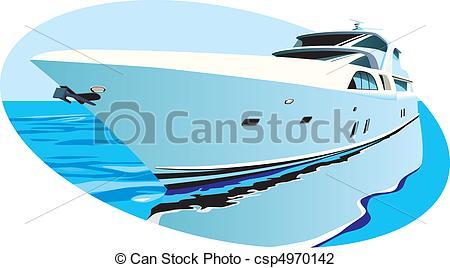 Yacht clipart luxury yacht Illustration with yacht  yacht