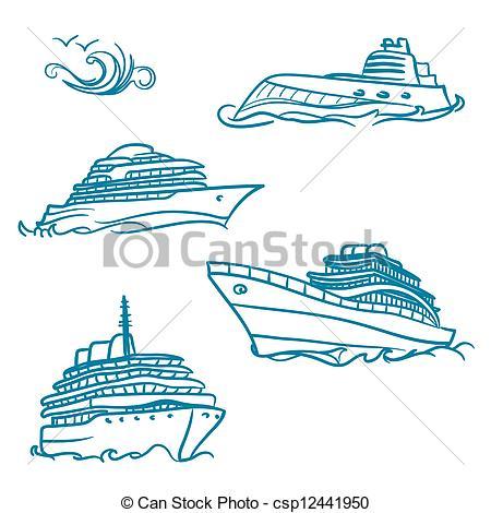 Yacht clipart vector  Clipart yacht csp12441950 symbols