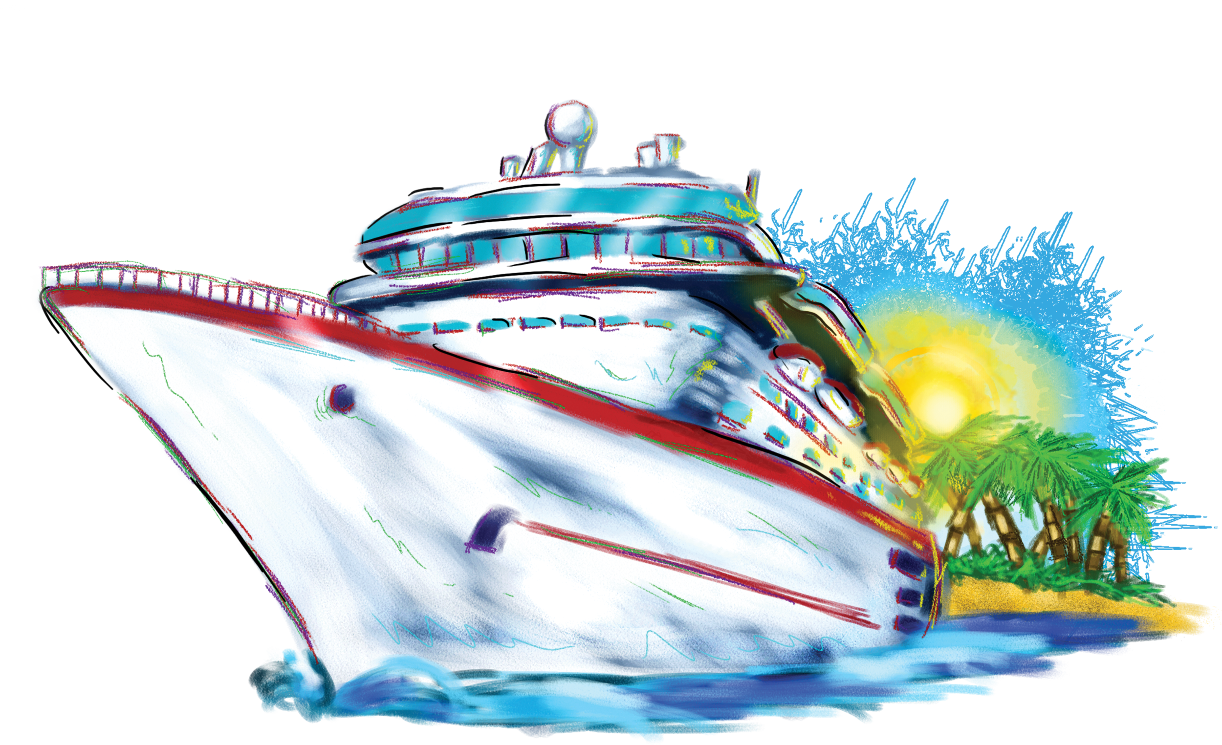 Boat clipart cruise ship 3 & Art com art