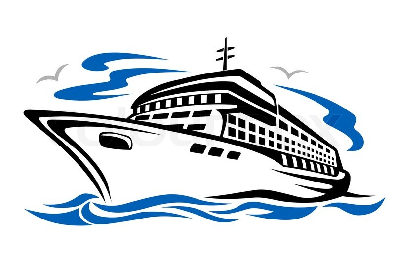 Sailboat clipart passenger ship Cruise ship Free clipart Cliparting