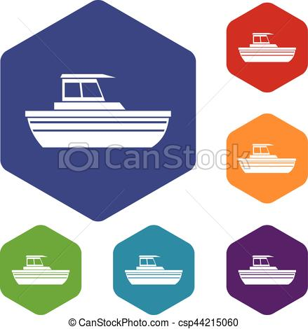 Cruise Ship clipart motor boat Of in different Motor set