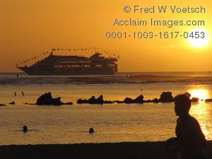 Cruise Ship clipart cruise liner Cruise Ala Ship Sunset Moana