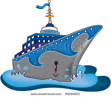 Cruise Ship clipart cruise liner Clipart Cruise Ship Sunset Clipart