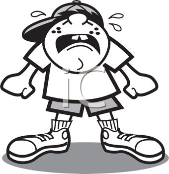 Crying Clipart Black And White Boy Clipart Crying collection and