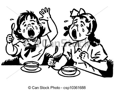 Crying Clipart Black And White Two in of and A