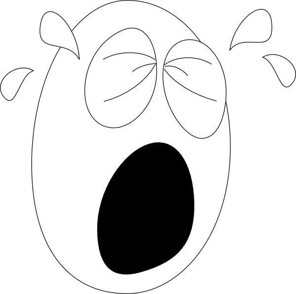 Crying Clipart Black And White Face Face Big and Crying