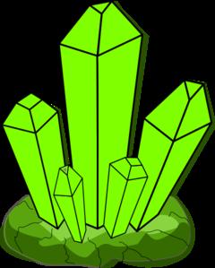 Crystals clipart Clip com Art Green Clip