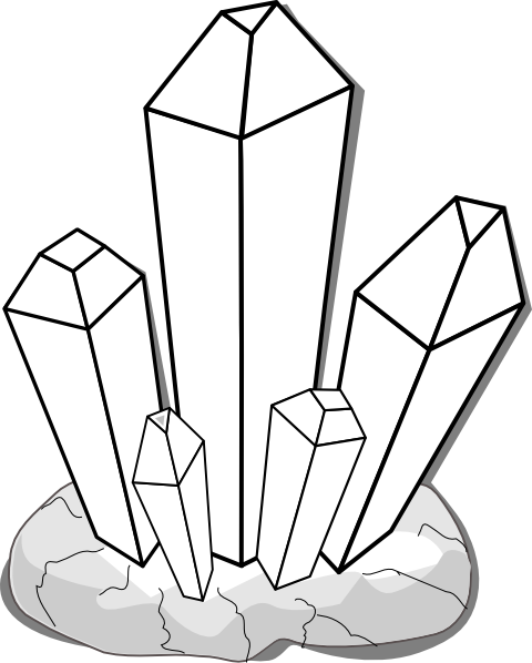 Crystals clipart black and white  at as: White Clker