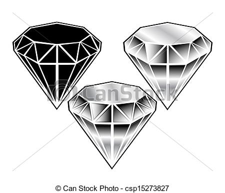 Crystals clipart black and white Crystals w white a crystals