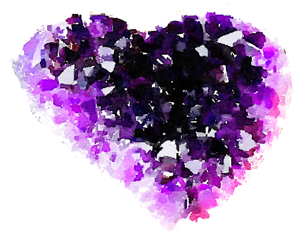 Crystal clipart geode Heart by FREE heart geode