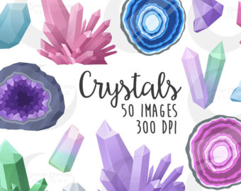 Crystal clipart geode Set Clipart Etsy Crystal Geodes