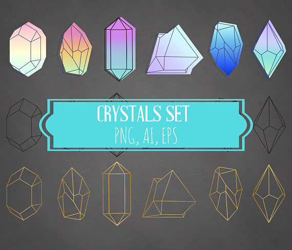 Crystal clipart mineral Neom Clipart from Elements Mineral