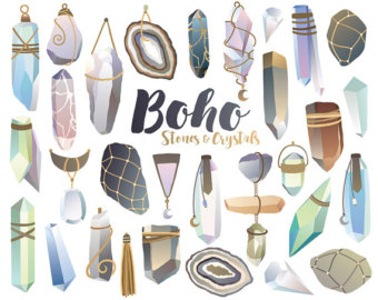 Crystal clipart mineral Boho Minerals Clipart clipart Stones