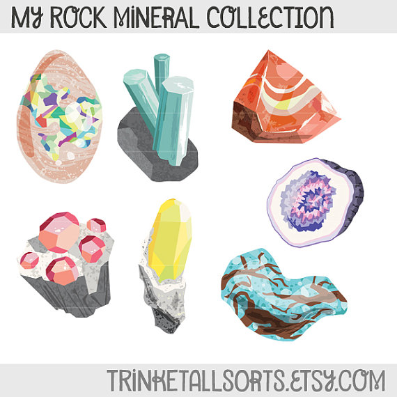 Crystals clipart rock mineral On from Rock  TrinketAllsorts