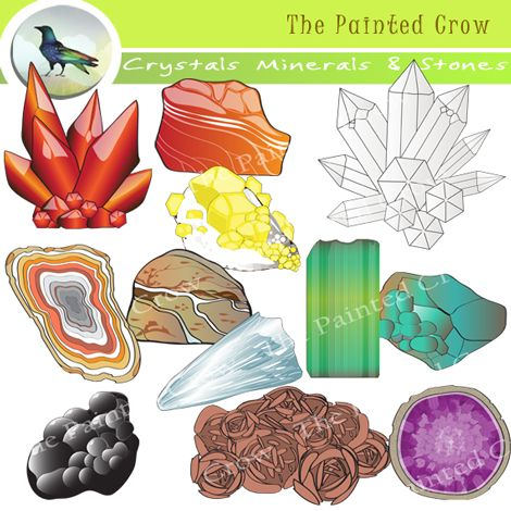 Crystal clipart rock mineral Clip Geology best Minerals Science