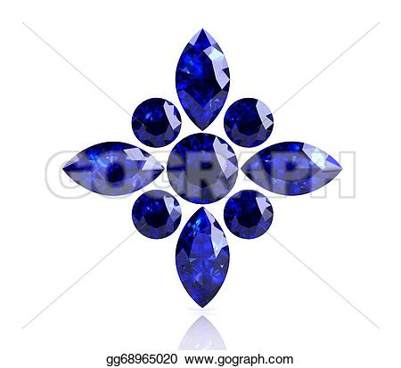 Crystal clipart sapphire (high image)  Blue resolution
