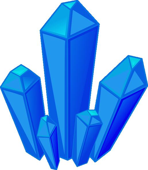 Crystals clipart Vector Clip Art Crystal Blue