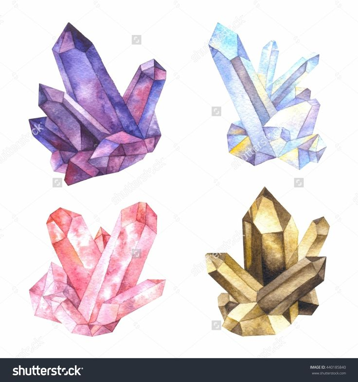 Crystals clipart hard object Crystals quartz Gems smoky amethyst