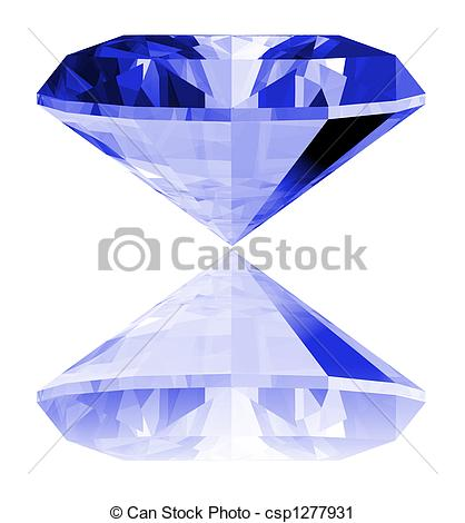 Crystals clipart sapphire 3d of a Sapphire
