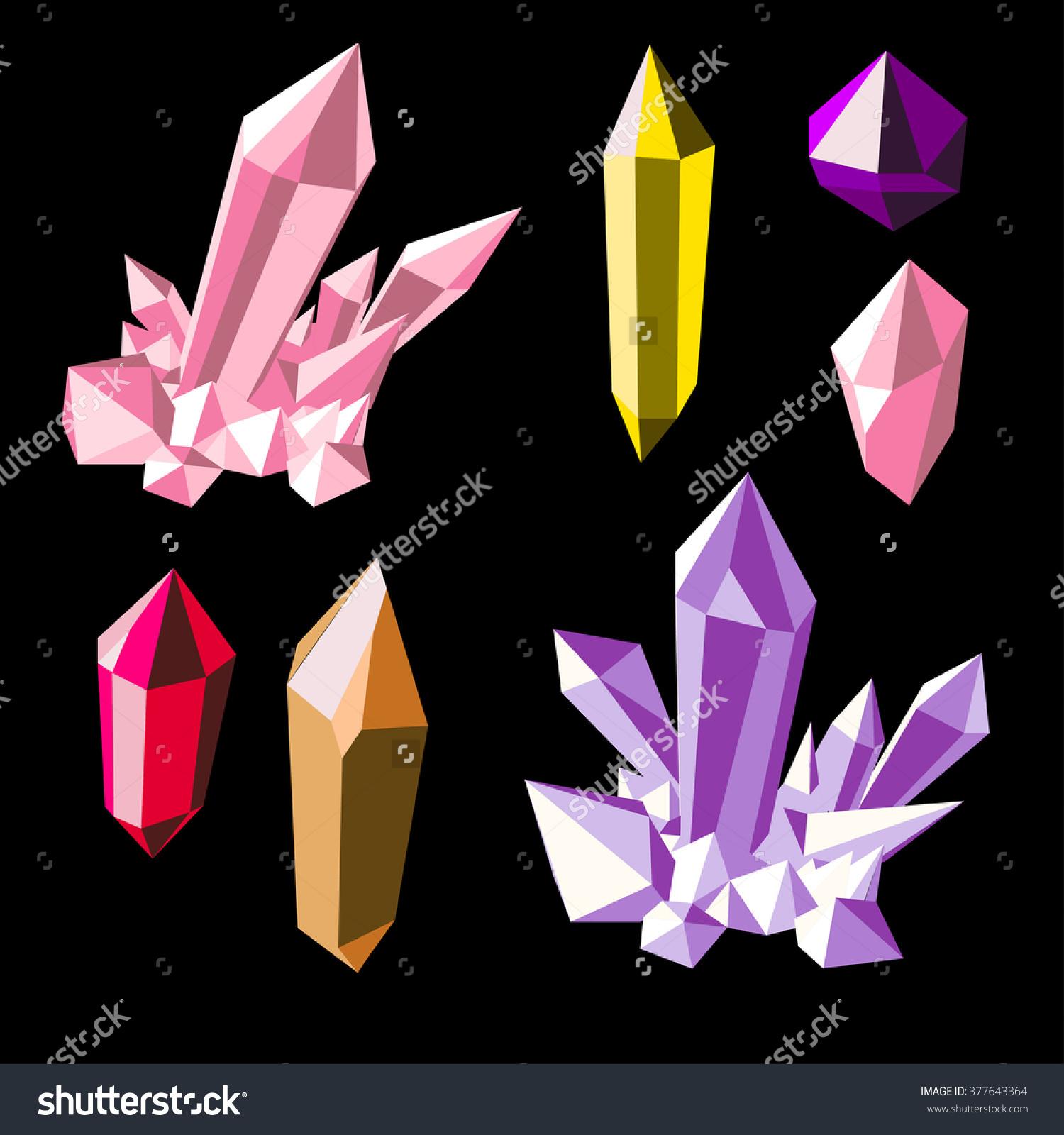 Crystals clipart shiny Colorful clipart crystal Crystals Quartz