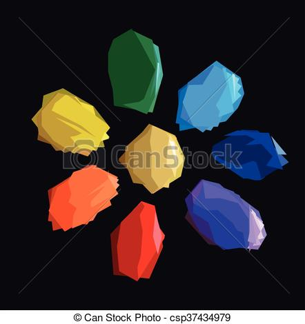 Crystals clipart shiny Colorful  Red crystals of