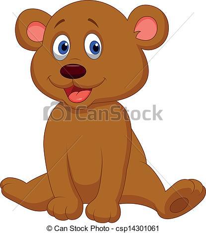 Brown clipart baby bear Of bear Vector Cute of