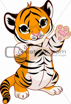 Baby Animal clipart tiger tail Image Description: cute baby Illustration