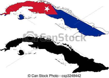 Cuba clipart Cuba map Vector vector and