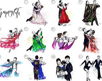 Cuba clipart dancesport Latin Dance Unframed Dancesport Framed