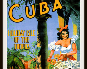 Cuba clipart dancing Giclee Giclee Print Travel Poster