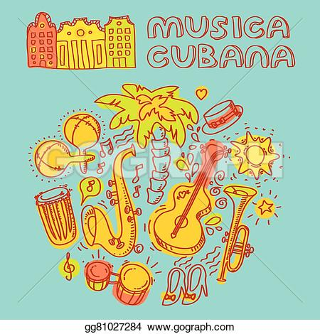 Cuba clipart music Illustration Stock Art and Clip