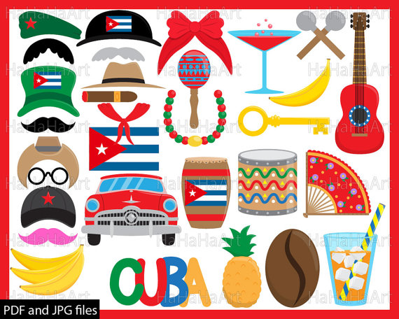 Cuba clipart music Digital Instant Prop JPG Art