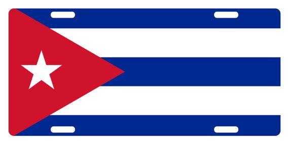 Cuba clipart plate Version Emblem Custom CUBA Flag