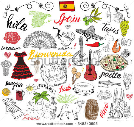 Paella clipart Collection Food food Vector Spanish