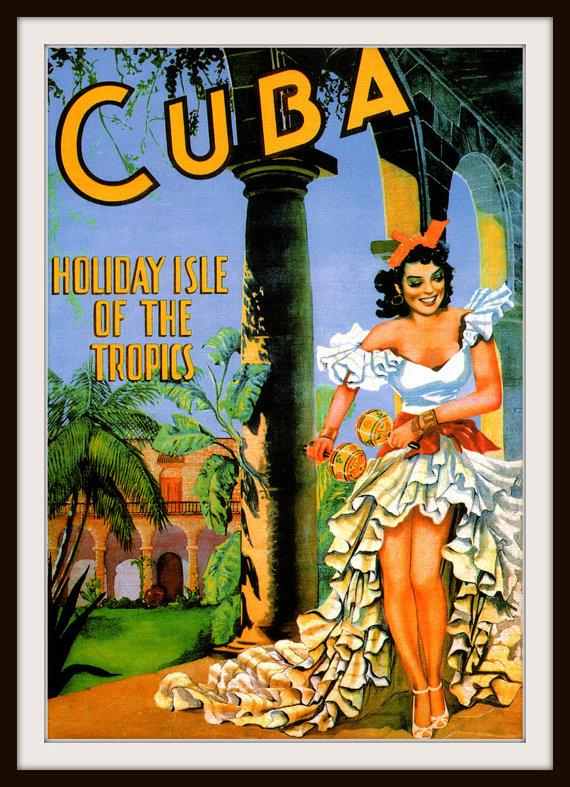 Cuba clipart vintage Cuban Giclee Art 1933 Print