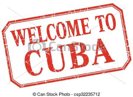 Cuba clipart vintage Vintage of  Art welcome