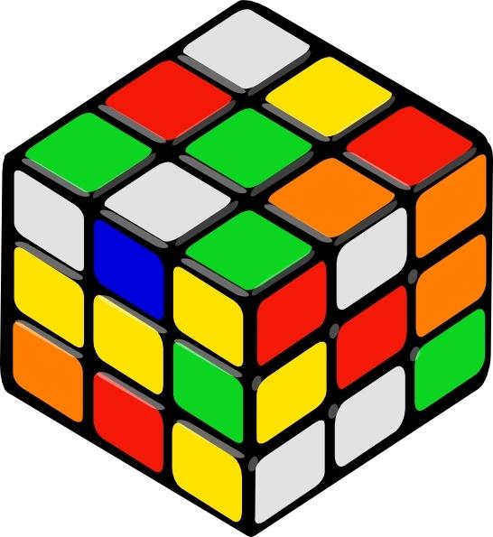 Cube clipart Vector in Rubik's  art