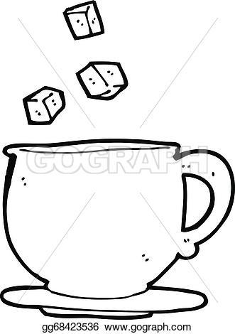 Cube clipart cartoon Cartoon teacup  Vector Stock
