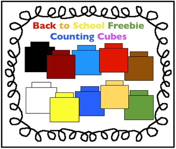 Cube clipart counting Charlotte's for by Freebie: School