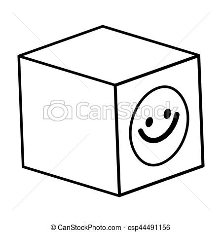 Cube clipart kids toy Vector Clipart Vector vector cube