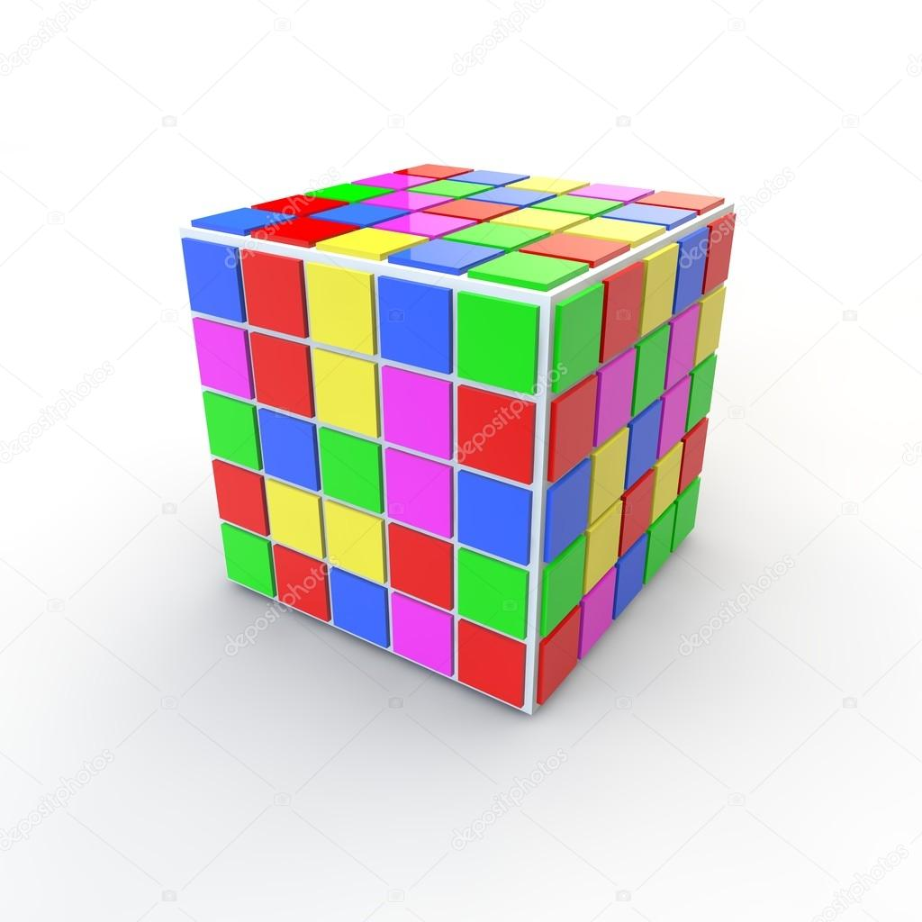Cube clipart different object Rubic puzzle #51248707 a logical