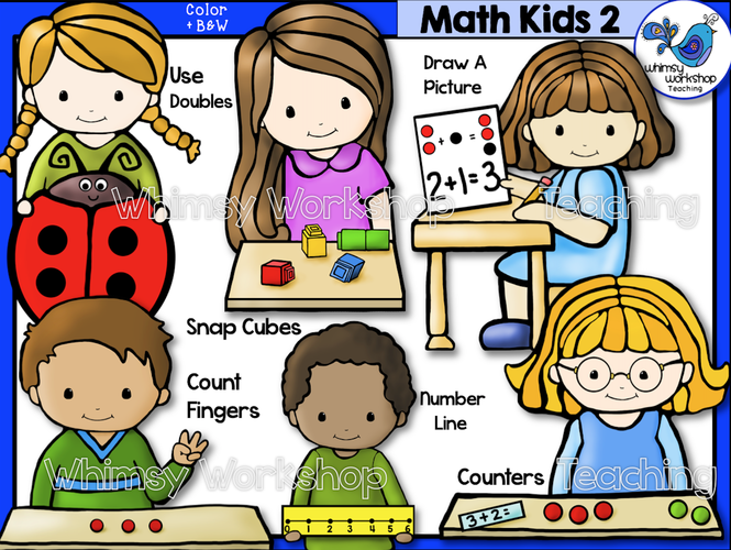 Cube clipart math counters Teaching Whimsy Workshop  Math