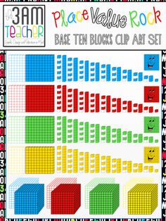 Cube clipart place value {Zip Rock Cube Place Blocks